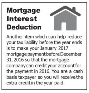 Mortgage Interest Tax Deduction Opportunity